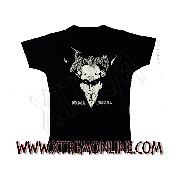 Camiseta de Venom - Black Metal.