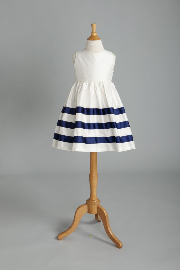 This Sailor Stripe Dress is the perfect outfit for your flower girl at your nautical wedding #nautical #wedding