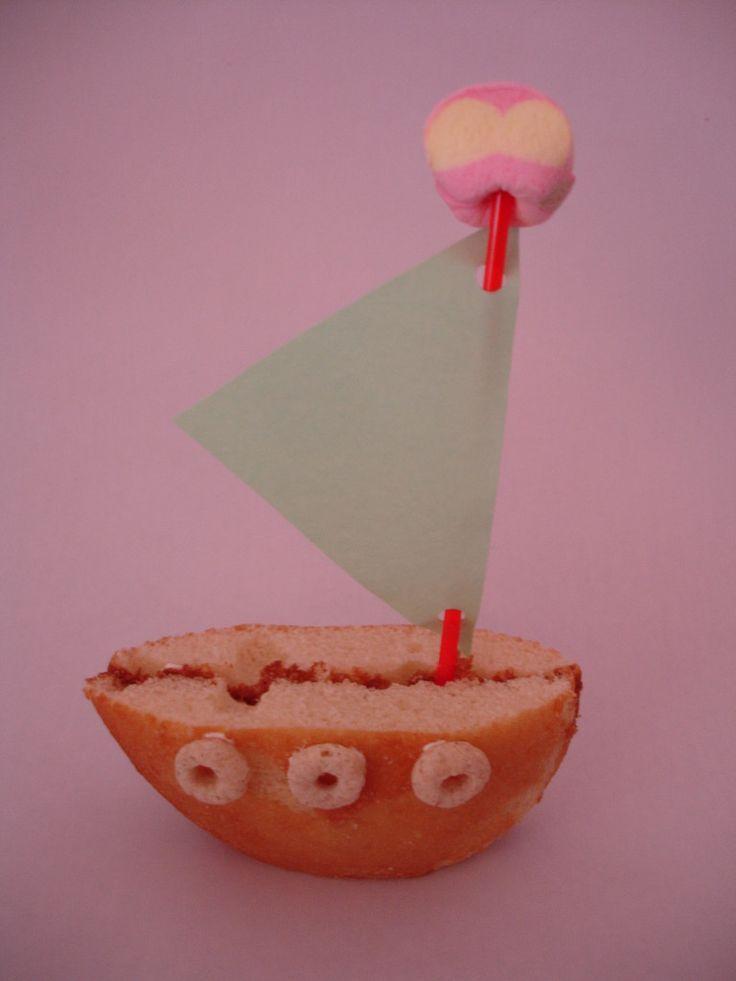 Eierkoek bootje Traktatie
