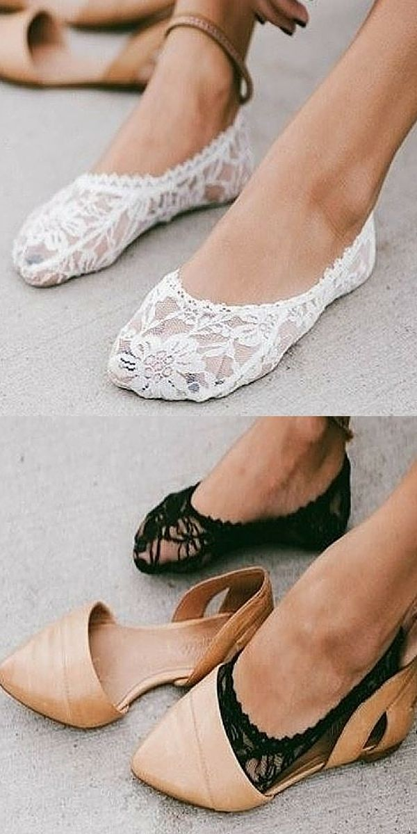 Add some sexy style to your every day shoe wear! These chic lace socks are the perfect addition for any shoe. These delicate lace socks come in pairs of two. They are the perfect feminine touch to pair with wedges, heels or flats. Dress up your shoes today!