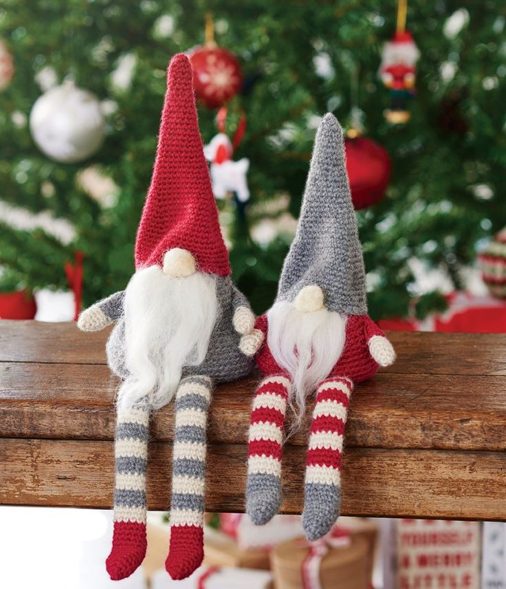Crochet christmas gnomes, free pattern