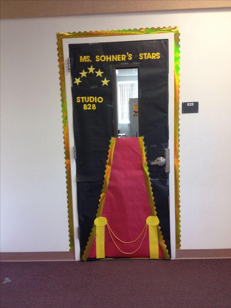 Star themed classroom door!
