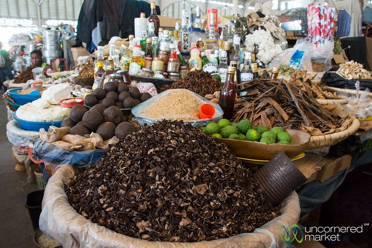 Black Mushrooms and Spices at Marché en Fer - Port-au-Prince, Haiti
