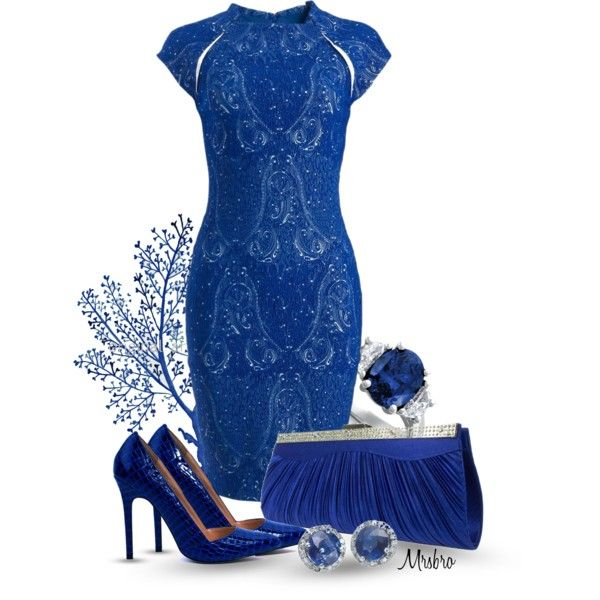 """The Devil in a Blue Dress"" by mrsbro on Polyvore"