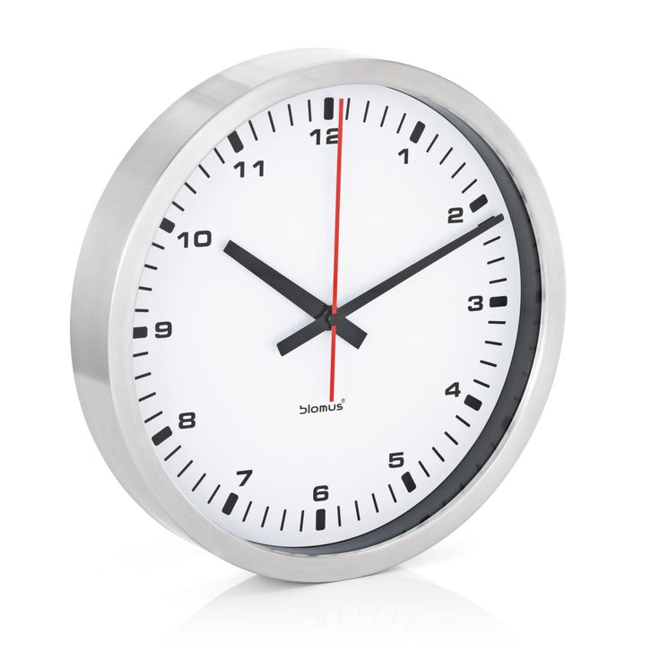 Era Stainless Steel & White Wall Clock - 63209