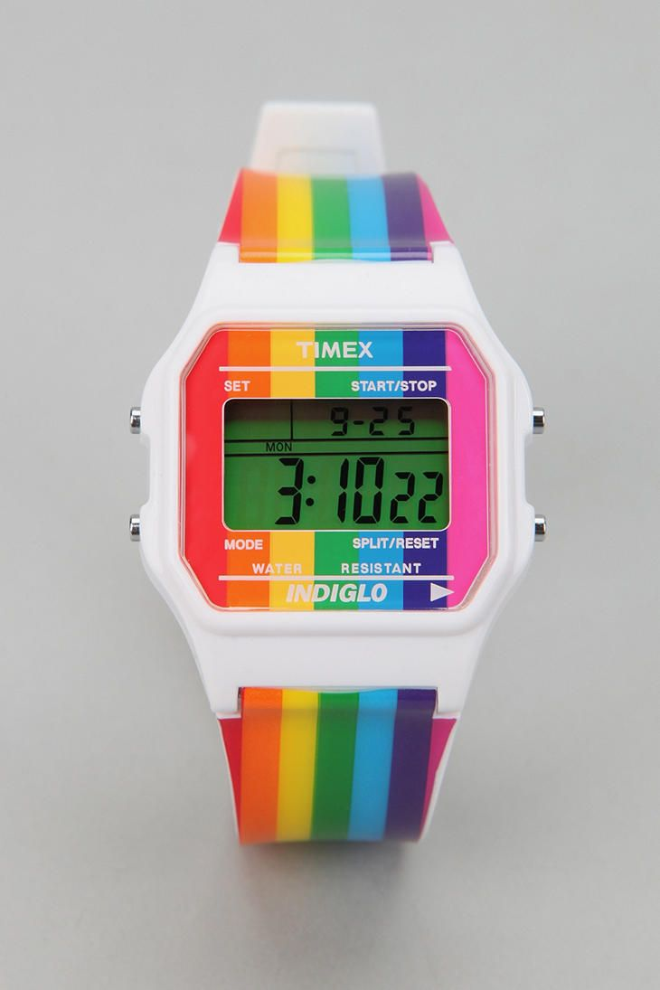 558 best images about a piece of my rainbow on pinterest for Rainbow color stripe watch