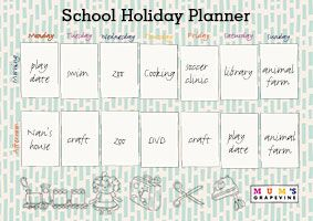 Free school holiday planner with 50 activities!