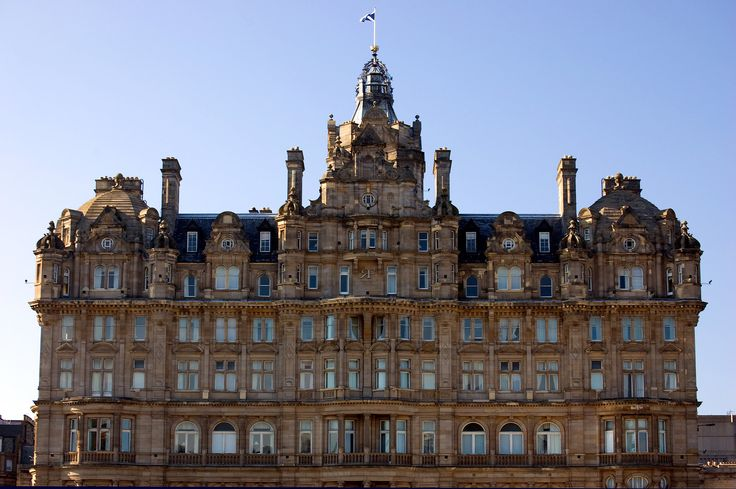 The beautiful Balmoral Hotel in Edinburgh, Scotland, was known as one of the great railway hotels in the early 1900s, but Harry Potter fans will find that the most important fact has nothing to do with trains. J.K. Rowling finished Harry Potter and the Deathly Hallows, the final book of the series, in the grand suite of the hotel. The door knocker is an owl in her honor.