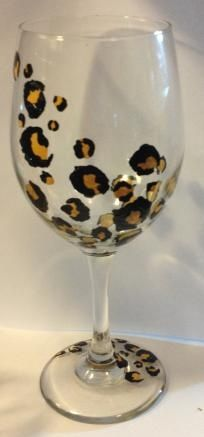 Leopard- Hand Painted Glass... I need to make these for Steph for x mas!