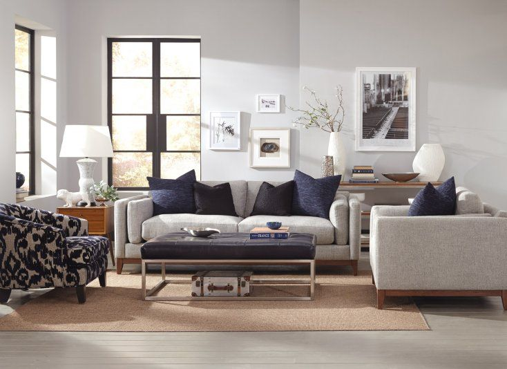 Jonathan Louis Furniture   Copley Metal Ottoman The Copley Metal Ottomanu0027s  Metal Frame Complements The