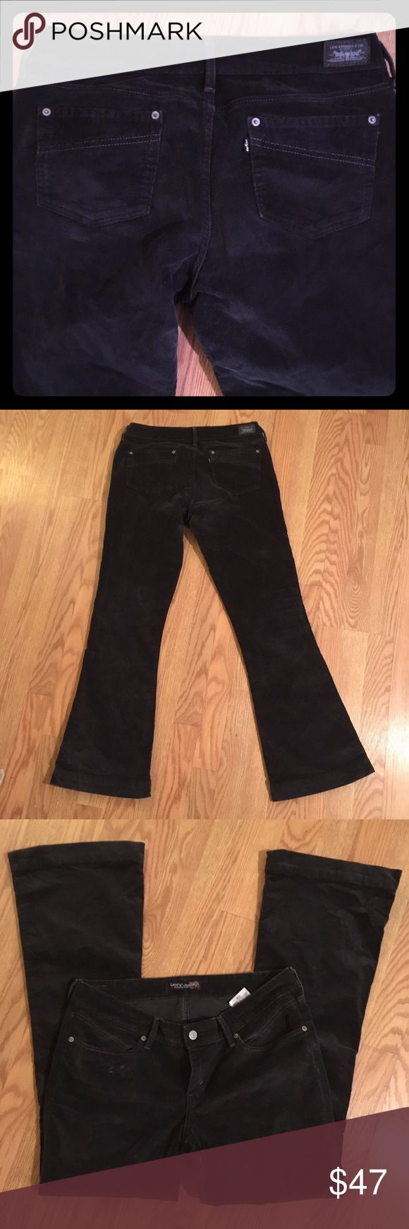 Levi's Dark Gray Stretch Boot cut Corduroy Jean Levi's Dark Gray Stretch Boot cut Corduroy Jeans Pants, 13 M, worn once, EUC Levi's Jeans Boot Cut