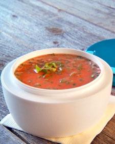 cold tomato-buttermilk soup1 25 Soup, Tomatoes Buttermilk Soup, Cold Soup, 125 Soup, Tomatobuttermilk Soup