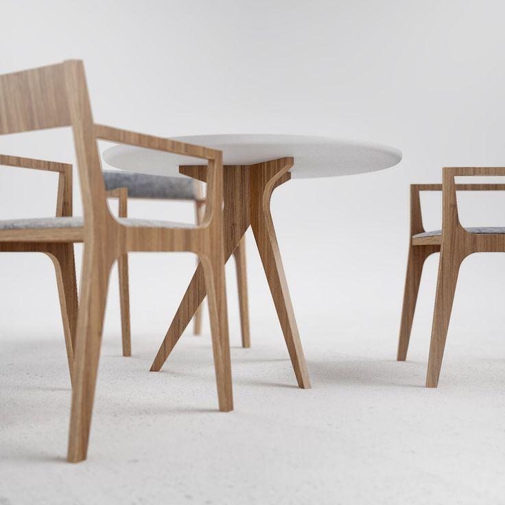 N4 table by Ukrainian design bureau ODESD2. Designer: Svyatoslav Zbroy.