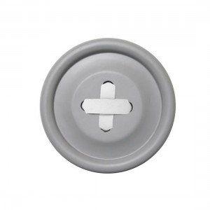 Attaccapanni Bottone in legno grigio M