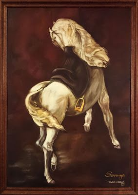 """Día del caballo! Mi homenaje: Reprod. de fragmento de """"El rapto de Rebecca"""", obra de Eugène Delacroix. #eugenedelacroix #arte #art #artesvisuales #visualarts #artesvisuais #bellasartes #finearts #pintura #pittura #oleo #oilpainting #oilpaintingoncanvas #painting #paint #paintwork #pitturaolio #pinturaalóleo #pinturaaloleo #pinturaaóleo #peinturealhuile #díadelcaballo #diadelcaballo #caballo #equino #horse #cavalo #cavallo #cavallobianco #cavalo branco #whitehorse #blanco #bianco…"""