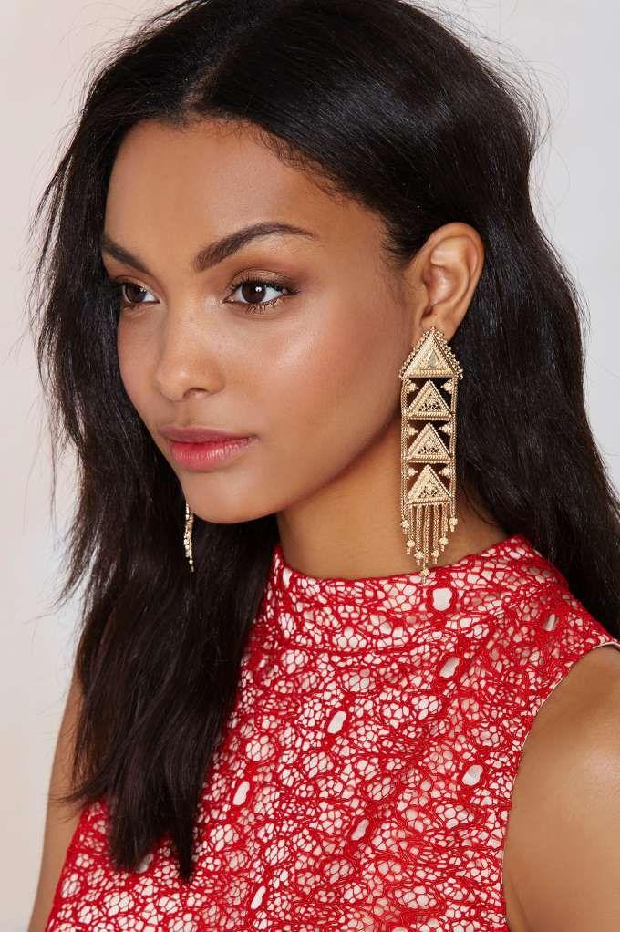 Nili Drop Earrings - Accessories   Earrings