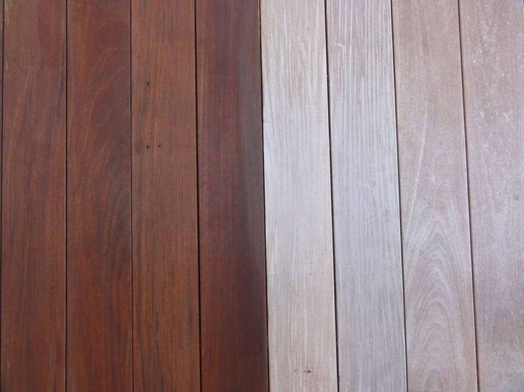 Defy Deck Stain For Hardwoods In Light Walnut On An Ipe