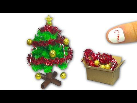 How to make a doll Christmas Tree and Christmas decorations DIY Tutorial - YolandaMeow♡ - YouTube