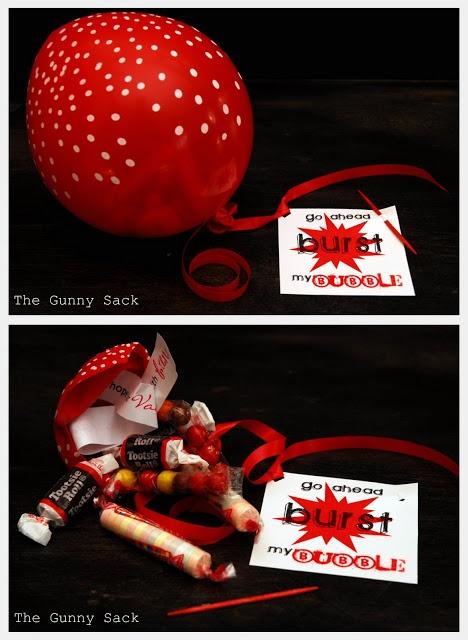 Such a cute idea!  Go Ahead Burst My Bubble Valentine | The Gunny Sack
