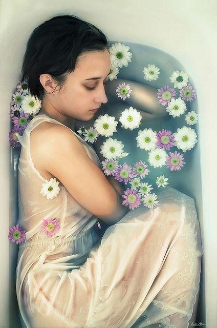 Art, Flower, Bath, Beauty, Rose, Viktor Hajer, Photography
