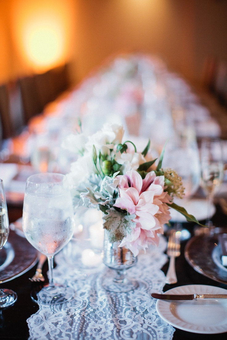 859 best centerpieces ideas images on pinterest floral a thin lace runner down the length of the table brilliant and beautiful view reviewsmspy