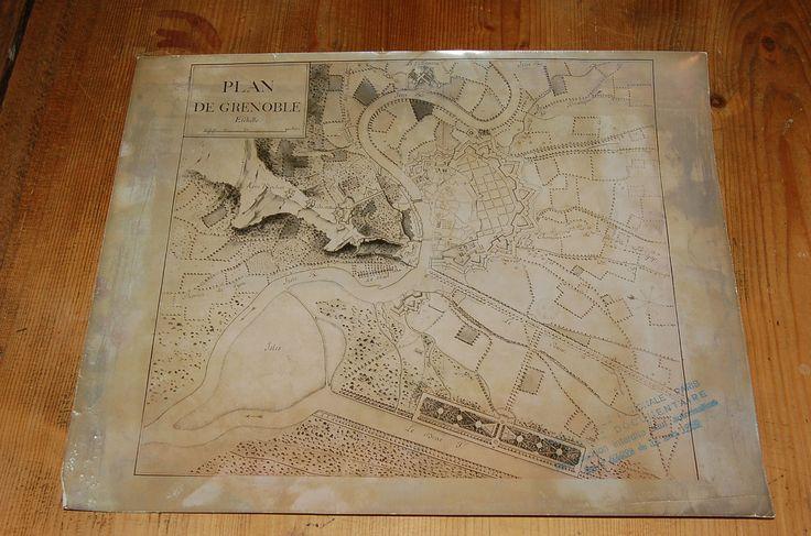 1 of 1: Ancien plan de Grenoble,bibliothèque Nationale Paris