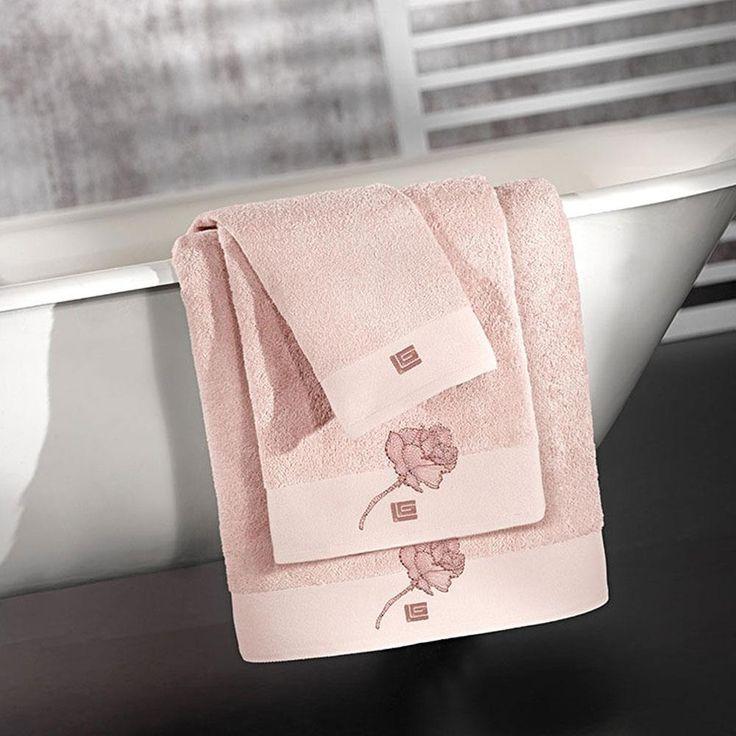 Πετσέτες Μπάνιου Σετ (3 Τμχ) Guy Laroche Celia Old Pink