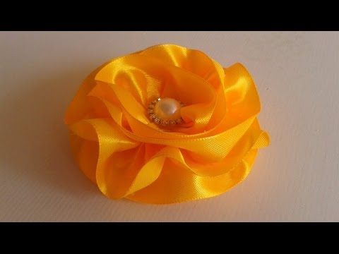 Flor de Fita De Cetim !  Satin Ribbon Flower