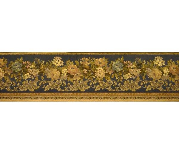 5 1 8 In X 15 Ft Prepasted Wallpaper Borders Floral Wall Paper Border Des57820 Wallpaper Border Floral Wallpaper Border Floral Wallpaper