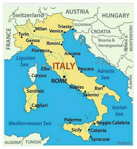 Map Of Ltaly Italien Karte Elba Italien Italien