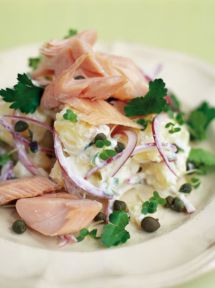 Smoked trout & jersey royal salad | Jamie Oliver | Food | Jamie Oliver (UK), foto by David Loftus