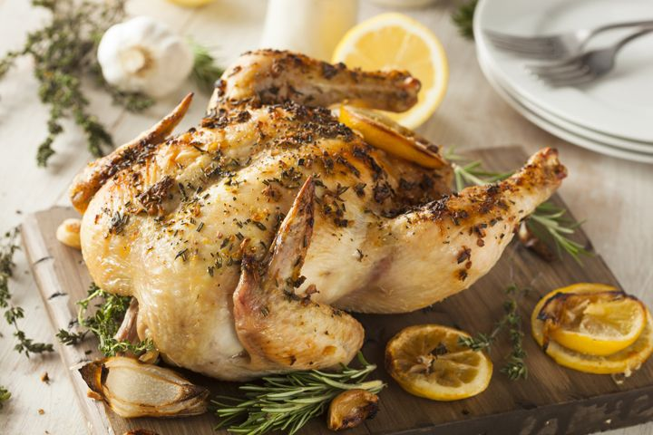 Laura Prepon's Roasted Chicken : A foolproof recipe for a light, juicy, roast chicken.