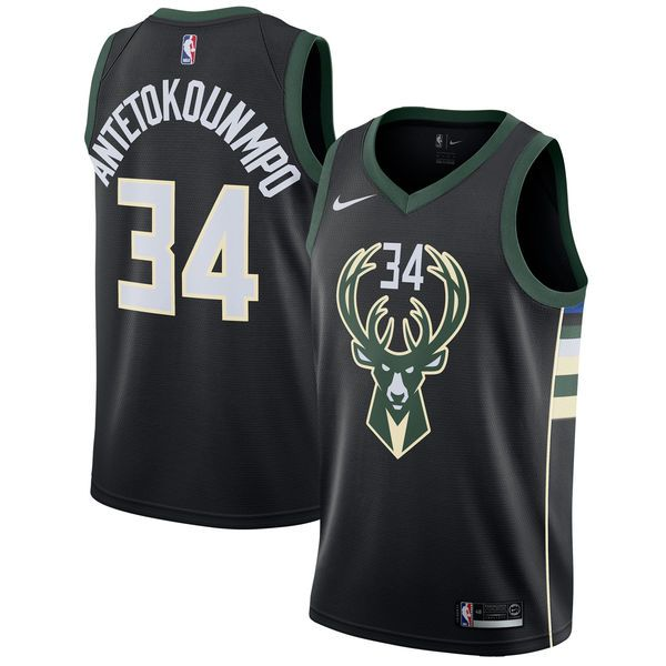 Men S Milwaukee Bucks Giannis Antetokounmpo Nike Black Swingman Jersey Statement Edition 1 Milwaukee Bucks Sports Shirts Basketball Jersey