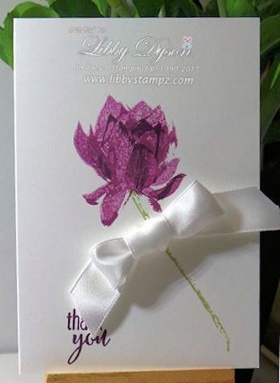 Lotus Blossom NoteCards - Blackberry Bliss and Rich Razzleberry