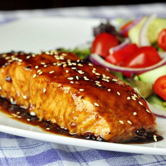Five Spice Teriyaki Salmon - forget boring workday dinners, this one packs plenty of flavor punch.