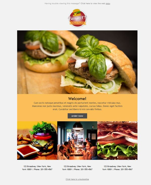 22 best Restaurantes - Plantillas Newsletter images on Pinterest ...