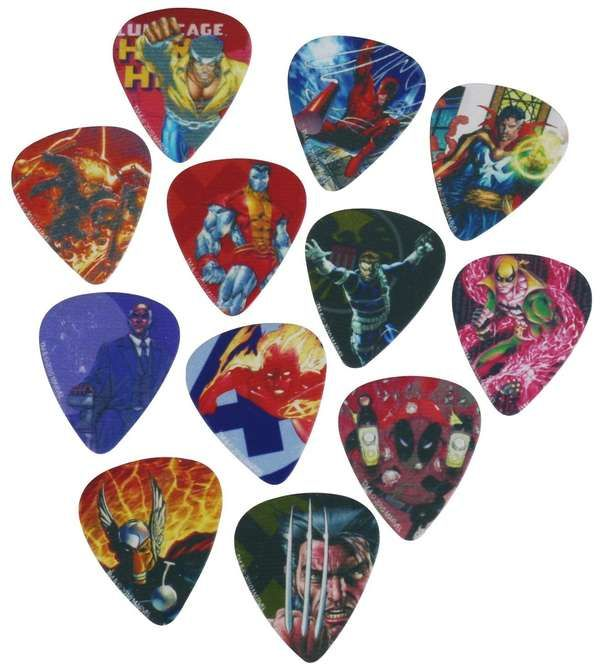 Marvel Comics Has Come Out with a Pack of Awesome Guitar Picks trendhunter.com