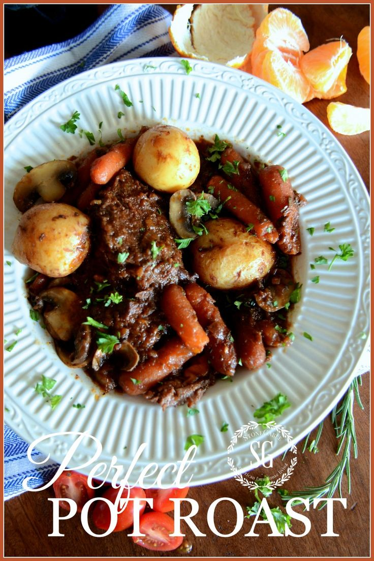 (also good in oven) PERFECT POT ROAST-this is the best pot roast you will ever make-stonegableblog.com