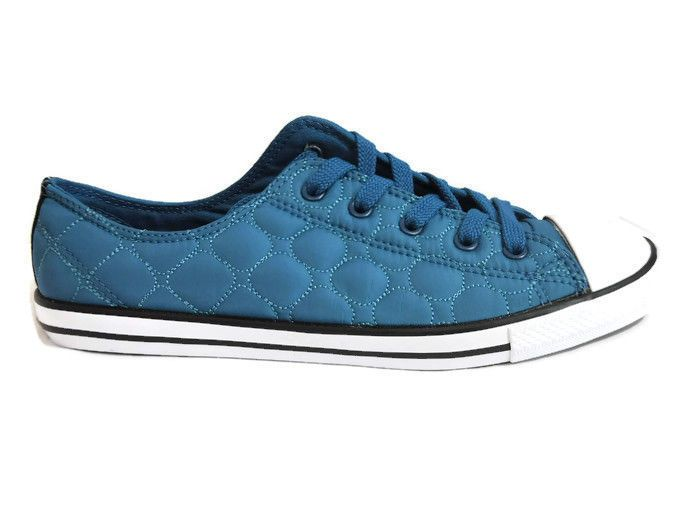 e2a5d985fef5 The Chuck Taylor All Star Quilted Nylon Low from Converse features an eye  catching diamond-quilted designed upper. Color   Blue.