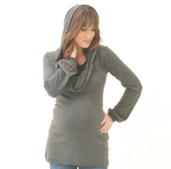 The Cowl Neck Hoodie Tunic Sweater $104.00