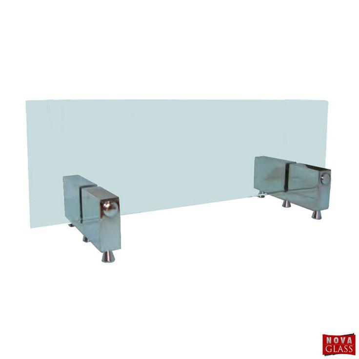 Μεταλλικό στήριγμα για κρύσταλλο τζακιού Κωδ. 7038 | Nova Glass e-shop
