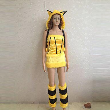 Pika Pika Pikachu Cute Gul Polyester Kvinnors kostym - EUR € 38.67