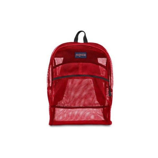 The Clear JanSport Mesh Backpack Is Perfect Choice This Features A Front Utility Pocket And An Internal Hanging For Organization