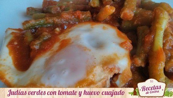 Judías verdes con tomate casero y huevo duro -  Dentro de poco llegará el día de los enamorados, más conocido como San Valentín. En este día tan especial las parejas se hacen regalos o se hacen postres o cenas especiales para demostrarle su gran amor a través de los ojos y de la comida. Es por ello, que hoy os enseño un almuerzo o cena para S... - http://www.lasrecetascocina.com/2014/01/25/judias-verdes-con-tomate-casero-y-huevo-duro/
