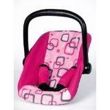 Bayer Design 77697 - Puppen-Autositz für Puppen bis 46 cm pink