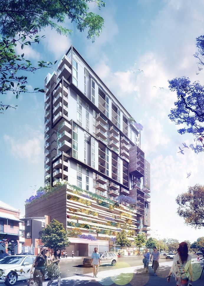 An artist's impression of Bohem from Morphett Street - Adelaide's tallest living wall due for city square.