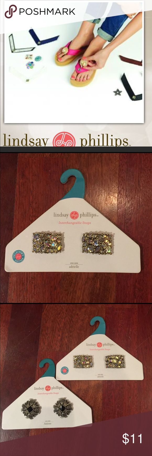 LINDSAY PHILLIPS DECORATIVE 👠👡 ATTACHMENTS NEW:  Change the look of your Lindsay Philips shoes. Brand new...also have (2) pictured listed together, with special pricing. Listing within my closet. lindsay phillips Accessories