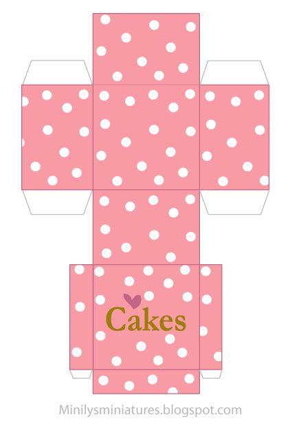 Template For Minature Cake Box