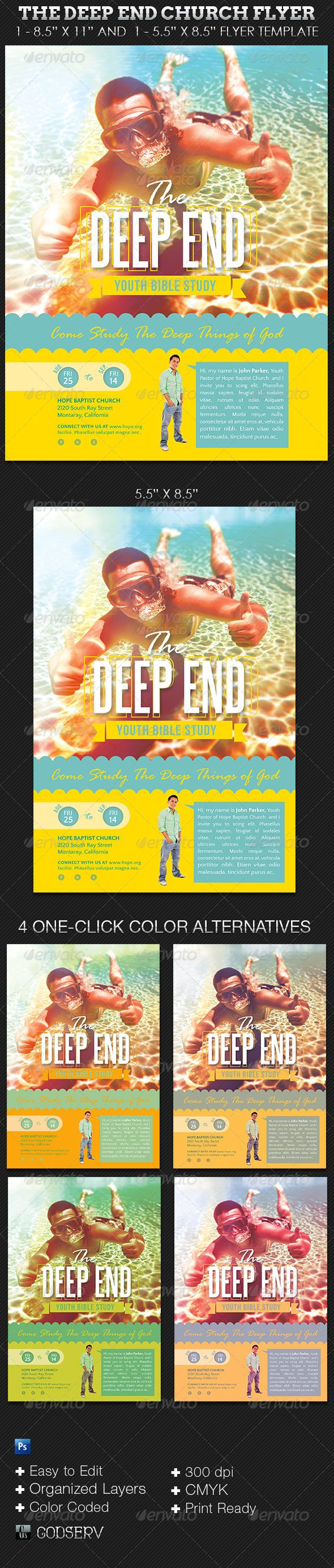 35 best youth flyers images on pinterest church ideas flyers deep end youth church flyer template stopboris Image collections