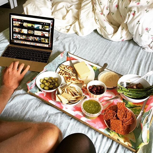 A successful Netflix and Chill Sunday complete with a Bed Picnic